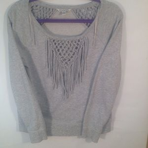 American Eagle Outfitters fringed sweatshirt
